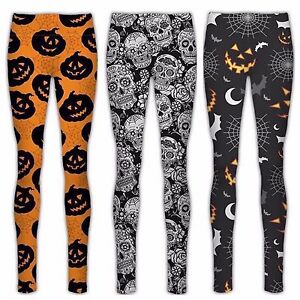 011ae1b14e4 Image is loading WOMENS-LADIES-HALLOWEEN-LEGGINGS -JEGGINGS-Pants-Party-Costume-