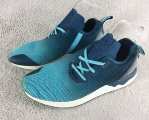 check out cfec9 dd31d Details about Adidas ZX Flux Green/Blue Turquoise S79058 UK6.5 EU40  Trainers Shoes Running
