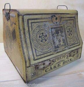 Antique 19c Schepp S Cake Box Htf Ornate Beautiful Pat