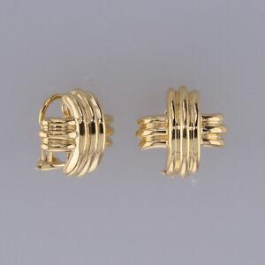 Tiffany & Co.18ct Yellow Gold Cross Earrings