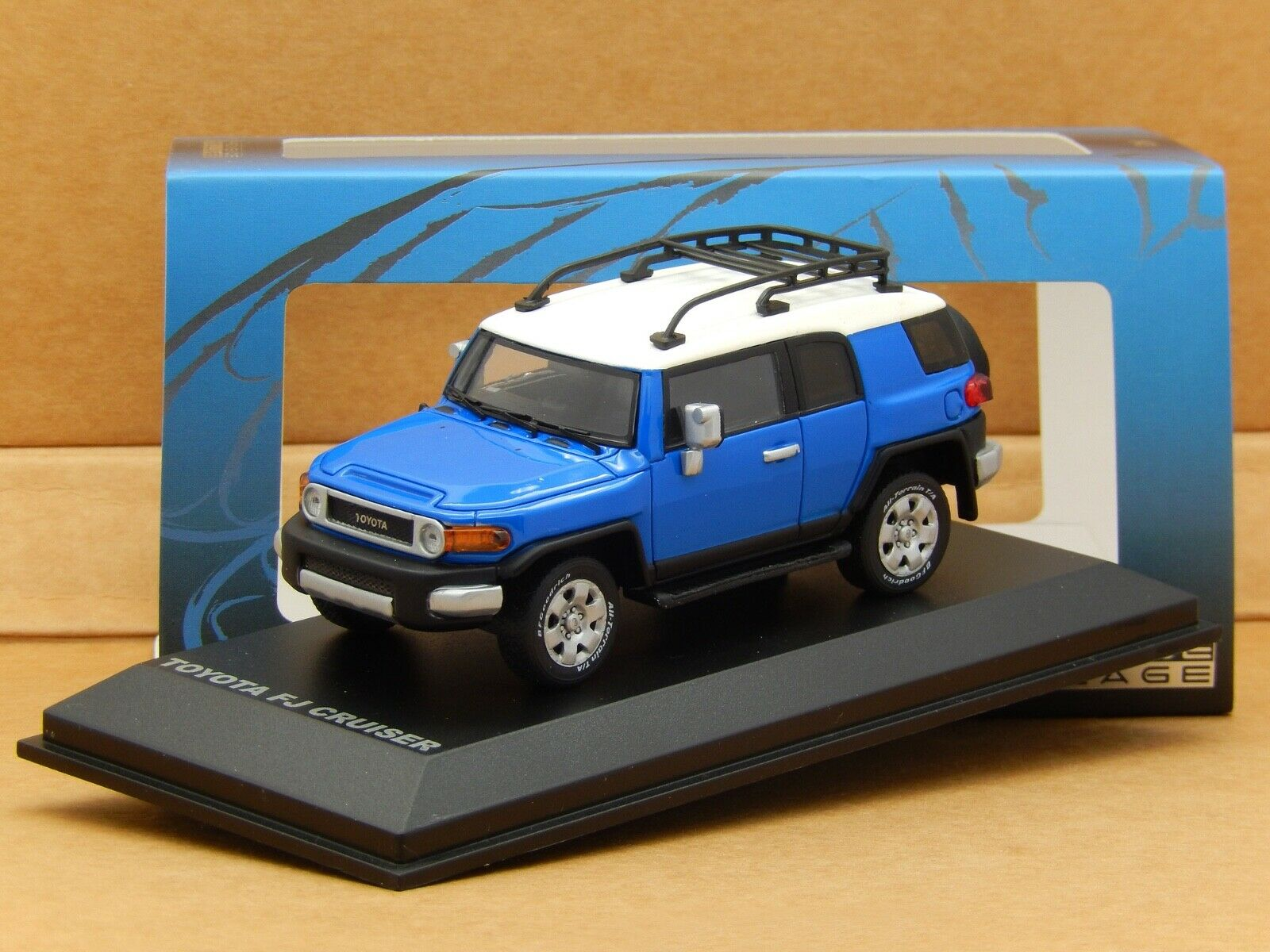 1 43 Toyota FJ Cruiser Voodoo bluee Norev Norev Norev Provence Moulage Resin Model Rare 1f0919