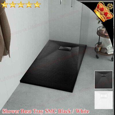 Shower Base Tray SMC Bathroom Non-slip Drain Enclosure Black White All Size New