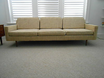 VTG Danish Modern Long Low Sofa Robinson Johnson Inc. All Original  Excellent 8ft
