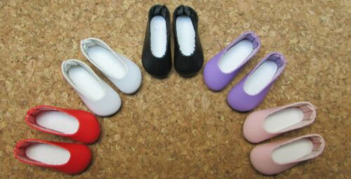 "30mm PURPLE Plain Slip-ons Custom for 8/"" Heartstring Effner DOLL Shoes"