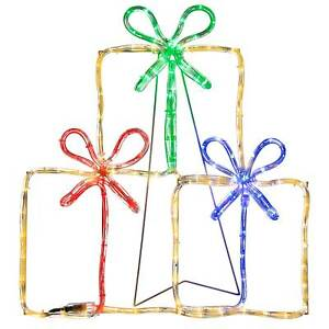 60cm Gift Boxes LED Rope Light Silhouette Christmas Decoration