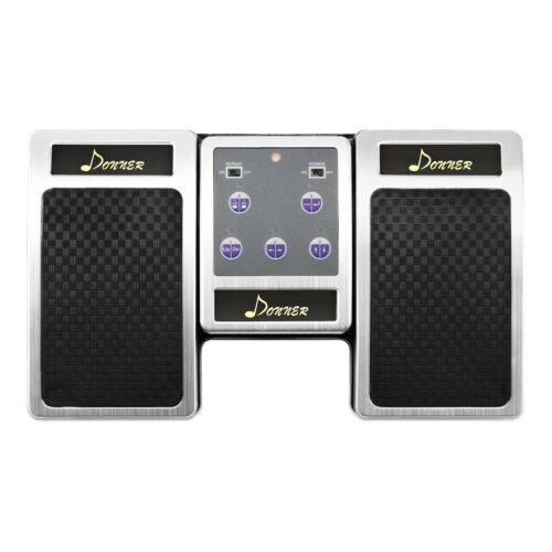 Donner Bluetooth Page Turner Pedal for Tablets Rechargeable Silver US Stock