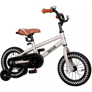 Totem 14 Kids Bike With Training Wheels Silver Ebay