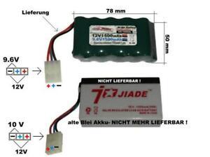 RC Toys Ersatzakku für Blei Akku 12V/9.6V/1500mAh, Optional mit Ladegerät...