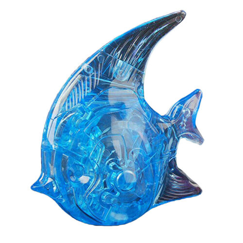 Crystal Gallery 3D Puzzle Blue Fish Building Model Kit Jigsaw Puzzle Gift