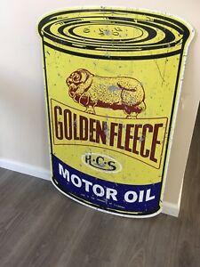 GOLDEN-FLEECE-MOTOR-OIL-metal-tin-sign-bar-garage