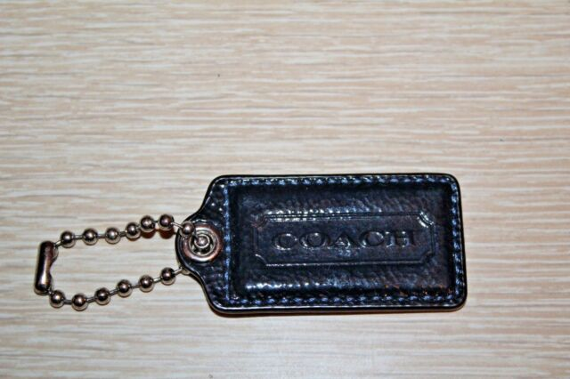Coach Large Navy Blue Patent Leather Replacement Purse Handbag Hang Tag Charm