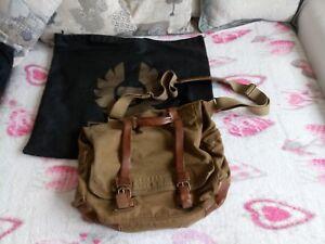 sale cozy fresh big sale Details about Belstaff Shoulder Bag-Colonial Messenger Bag Man Canvas and  Leather-Legend- show original title