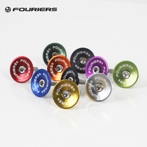 "Fouriers CNC Bike Headset Stem Top Cap For 28.6mm Fork 1 1//8/"" Steerer Tube Cover"