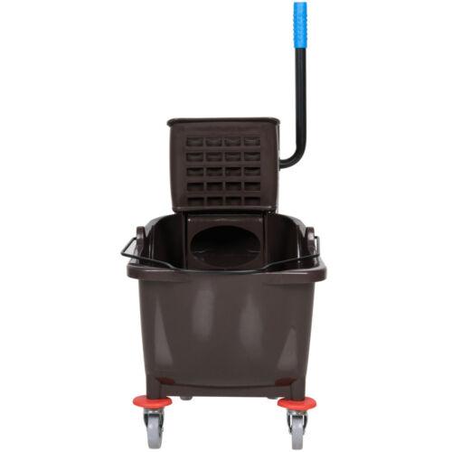 Industrial Janitorial Brown 36 Quart Mop Bucket /& Wringer Combo $5 bonus