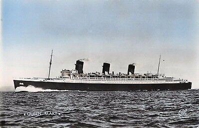 Cpa Marine Paquebot Queen Mary Gemakkelijk Te Smeren