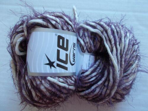 Cream//Maroon 66 yds ea Ice Yarns Winter wool blend yarn lot of 2