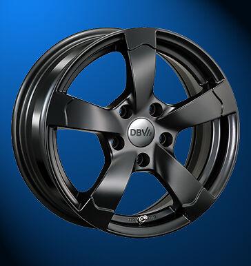 4x NEUE DBV Torino II 7J X 16 Zoll Alufelgen LK 4 X 100 ET 35 schwarz matt