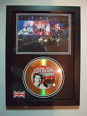 the shadows signed gold disc