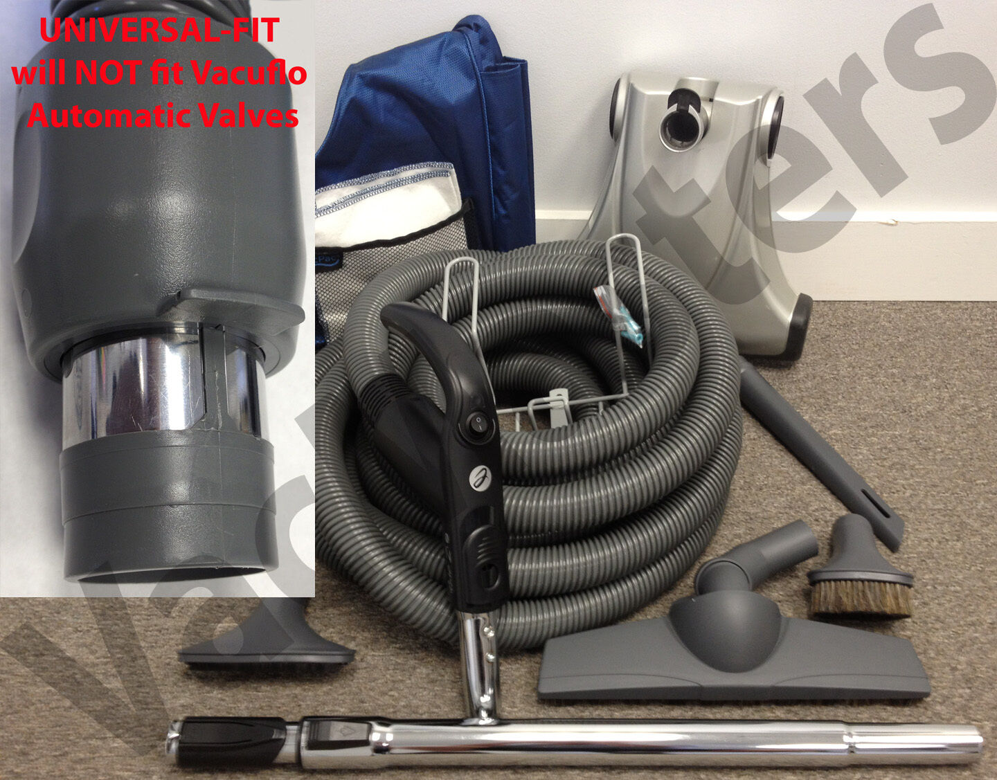 GENUINE Vacuflo 30' E-Class CleanTeam Deluxe central vacuum set - UNIVERSAL-FIT