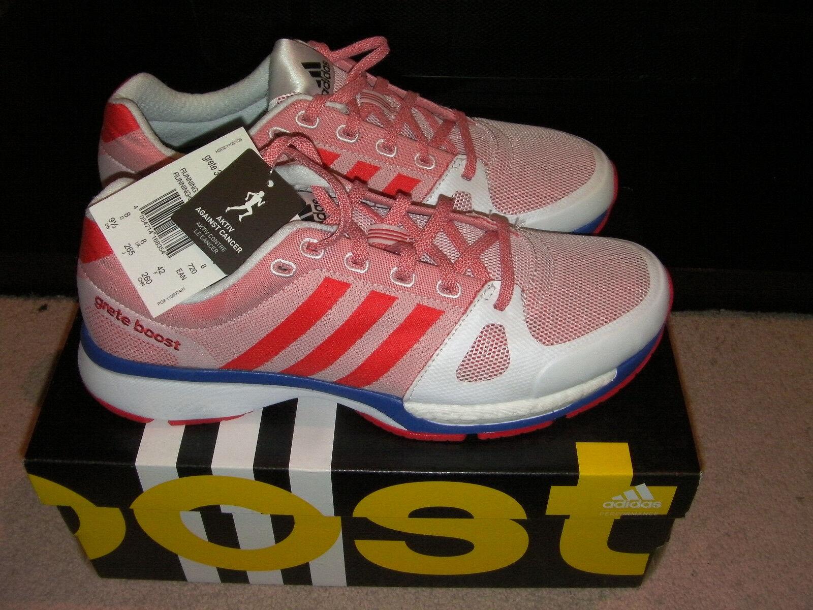 Adidas Greta 30 Boost Femmes Running Baskets-Blanc/Rouge/ROYAL - 8UK/42 UE