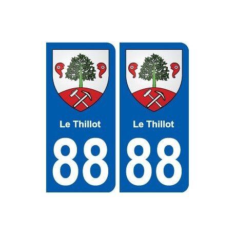 88 Le Thillot blason autocollant plaque stickers ville droits