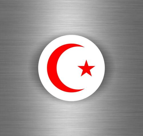 Sticker car crescent star algeria morocco tunisia flag r3