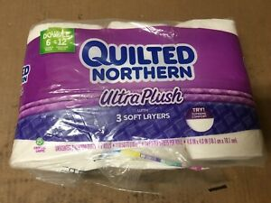 Image Is Loading Quilted Northern Ultra Plush Toilet Paper 6 Double
