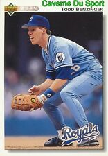 518 TODD BENZINGER KANSAS CITY ROYALS  BASEBALL CARD UPPER DECK 1992