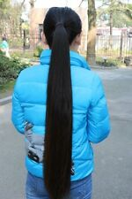 REAL HUMAN HAIR VIRGIN HAIRCUT 27.5 INCH 7.9 OZ PONY TAIL FINE SILKY