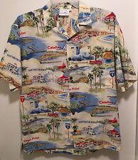 EUC Men's Surf Squirt California Beach Cities PCH Vacation Aloha Camp Shirt L