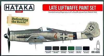 Hataka Hobby Paints LATE GERMAN LUFTWAFFE COLORS Acrylic Paint Set