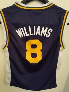 more photos 5a237 7357f Details about NBA UTAH JAZZ #8 Deron Williams ADIDAS AUTHENTIC Jersey youth  Medium