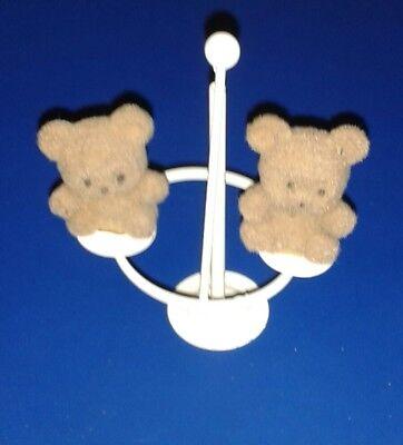 """** 2 X 1"""" Mini Orsi Su Piccoli Rotatoria ** Teddy In Miniatura Con Accessorio In Metallo- Per Vincere Una Grande Ammirazione Ed è Ampiamente Fidato In Patria E All'Estero."""