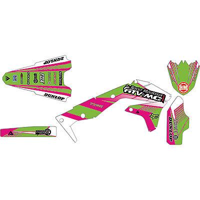Attack Graphics Custom Turbine Full Trim Kit Hot Pink//KX Green