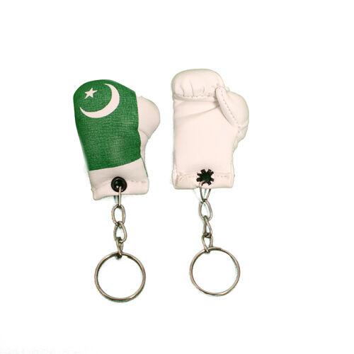 Mini Boxhandschuhe Team Pakistan Flagge Schlüsselring Schlüssel Kette Land