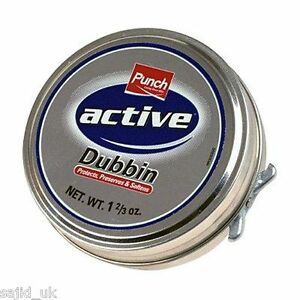 Punch-Active-Dubbin-Neutral-50ml-Tin-Waterproofs-Leather-Shoe-amp-Boot-Wax
