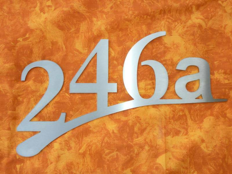 Hausnummer Edelstahl V2A  Zahl 15cm 3 mm  Vierstellig
