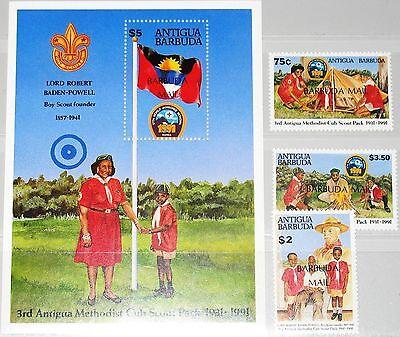Briefmarken Sparsam Barbuda 1992 1393-95 Block 190 1284-1287 Boy Scouts Pfadfinder Jamboree Mnh Organisationen