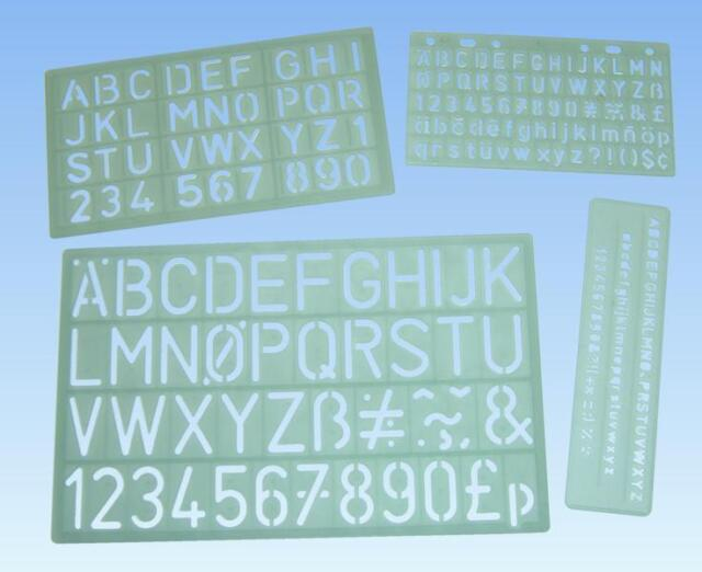 stencils templates one each of 40012 40013 40014 40015 5mm