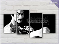 ' Bruce Lee & Quotes ' Kung Fu Icon Split Canvas Print Wall Art Deco