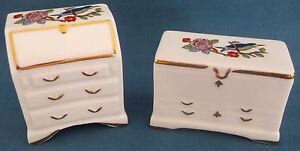 RARE AYNSLEY CHINA Miniature Pembroke écriture bureau & bureau commode-afficher le titre d`origine Dler2IFV-09165117-184120828