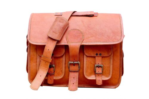 Small-Xx-large Real  Leather messenger bag laptop bag computer case shoulder