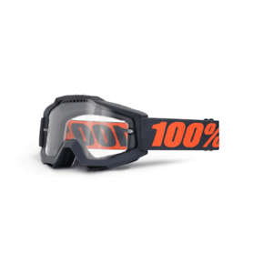 100%  Adults Accuri Enduro MTB Mountain Bike Goggles - Gunmetal   Clear Lens  everyday low prices