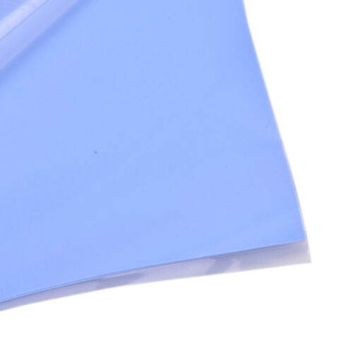 Blue GPU CPU Heatsink Cooling Thermal Conductive Silicone Pad 100x100x0.5mm LL