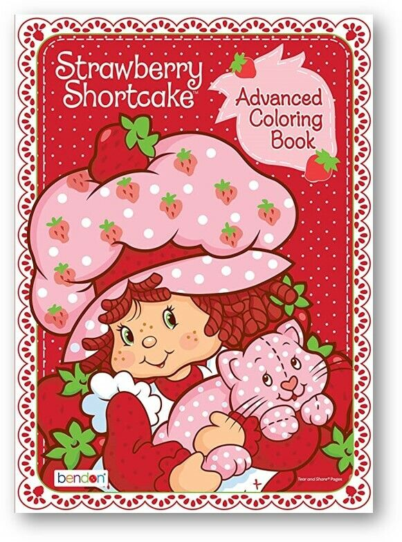 Bendon Strawberry Shortcake Retro 80-Page Advanced Coloring Book RED PINK  For Sale Online