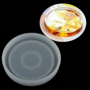 Epoxy Resin Molds For DIY Coasters Silicone Jewelry Mold-Round/Square Q0T1