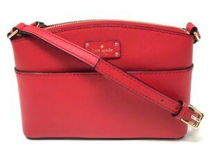Kate-Spade-Grove-Street-Millie-Red-Leather-Crossbody-Shoulder-Bag-WKRU4194