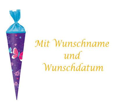 """Herlitz Schultüte 35cm rund Länge Zuckertüte /""""Schmetterlinge/"""""""