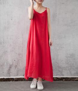 UK-Women-Summer-Boho-Casual-Long-Maxi-Evening-Party-Casual-Beach-Dress-Sundress