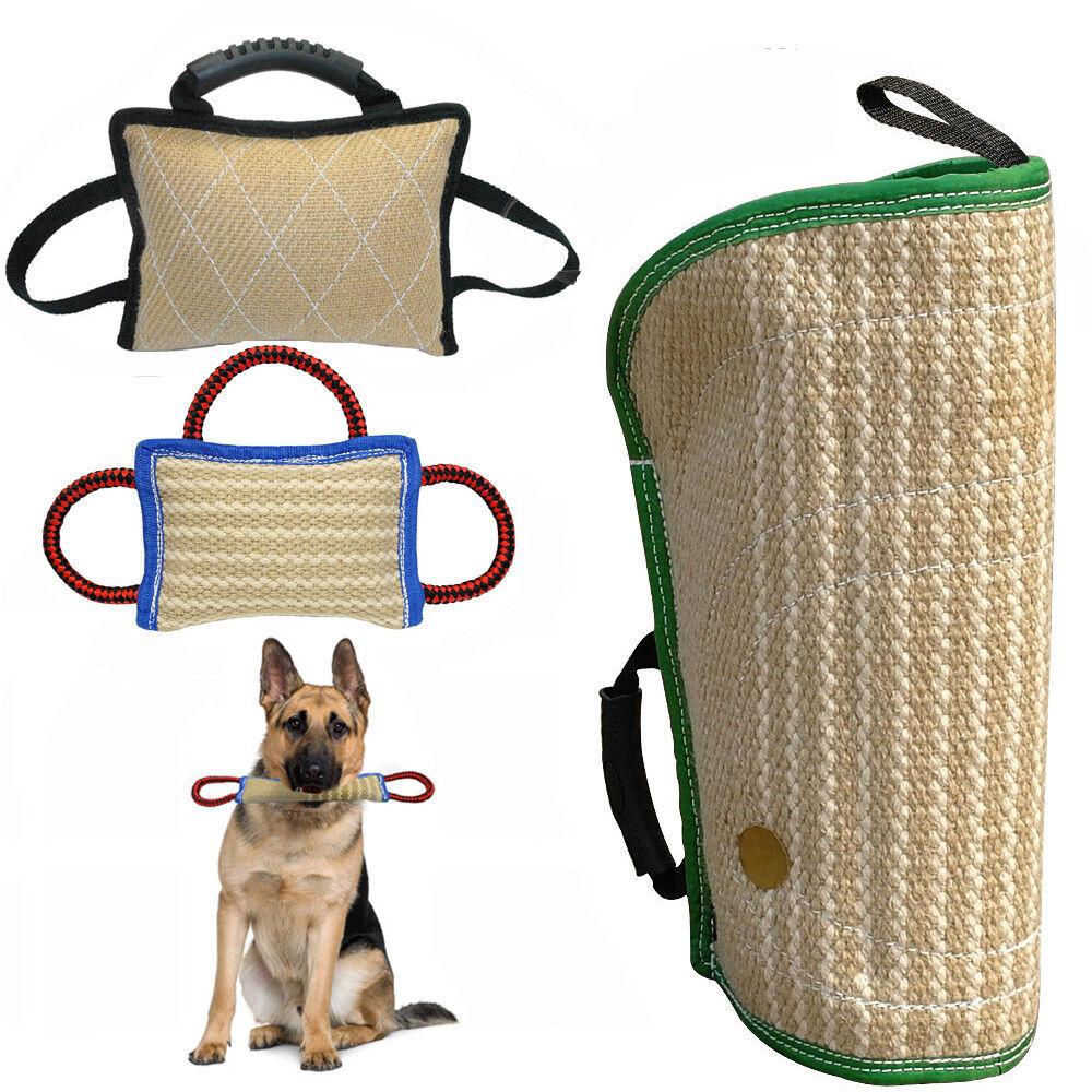 Jute Dog Bite Tug Pillow Bite Sleeve Training Schutzhund K9 Pitbull Heavy Duty